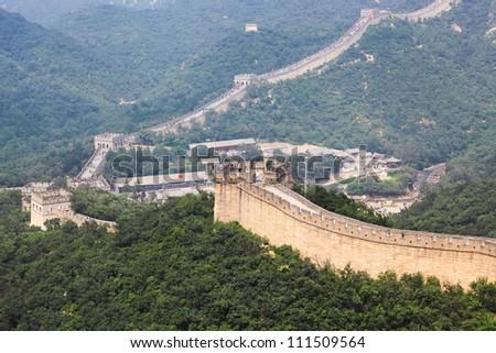 badaling great wall,crossroad town in beijing,China - stock photo