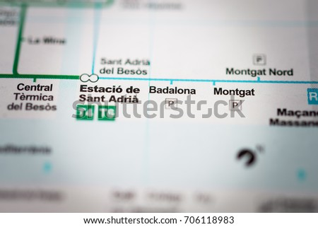 Badalona Barcelona Metro Map Stock Photo 706118983 Shutterstock