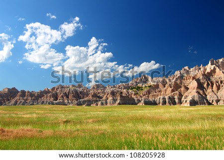 Badands National Park of South Dakota - stock photo