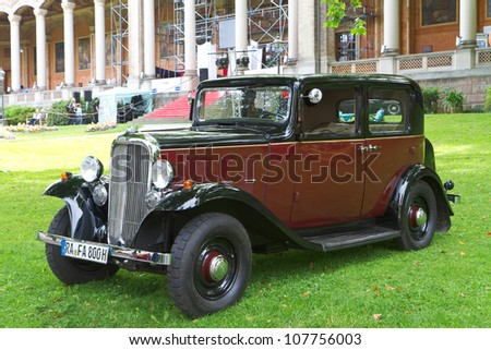 "BADEN-BADEN, GERMANY  JULY 13:  CITROEN (1935)  at The International Exhibition of old cars ""Internationales Oldtimer-Meeting Baden-Baden"" on July 13, 2012 in Baden-Baden, Germany."
