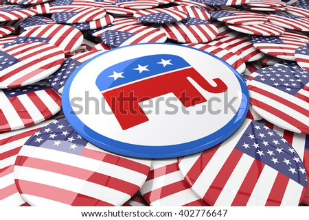 Badge against badges with american flag