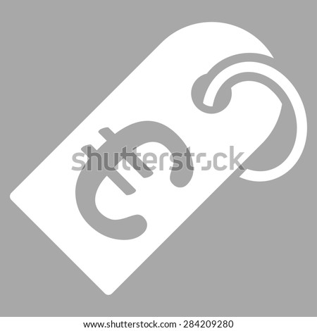 Badge from BiColor Euro Banking Icon Set. Glyph style: flat, white symbol, rounded angles, silver background. - stock photo