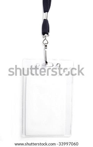 badge ID isolated on white, ready for your text - stock photo