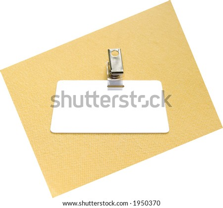 Badge on a yellow and white background