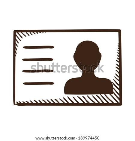 Badge symbol. Isolated sketch icon pictogram.  - stock photo