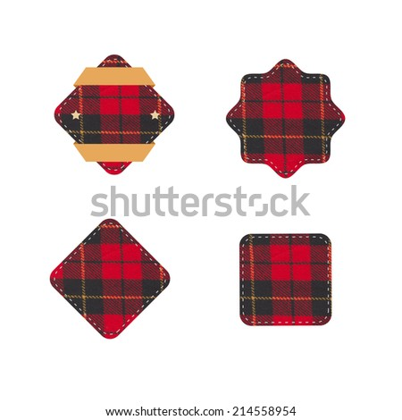Badges cloth - stock photo