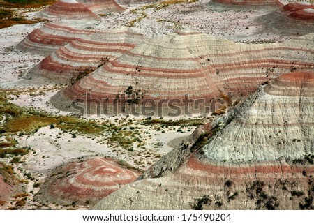 Badlands - stock photo