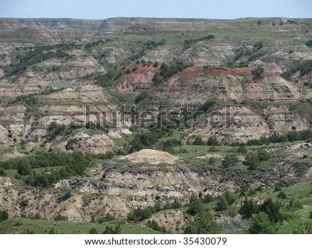 Badlands 6, North Dakota - stock photo