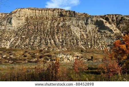 Badlands of Theodore Roosevelt National Park, North Dakota - stock photo