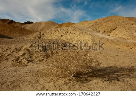 Badlands surrounding Badwater Basin, Death Valley National Park, California