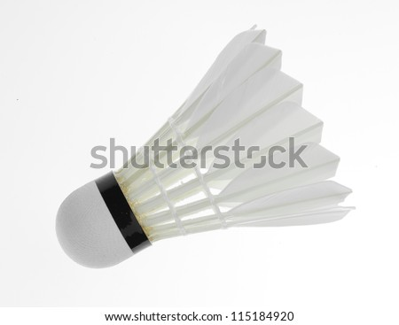 Badminton isolated on a white background