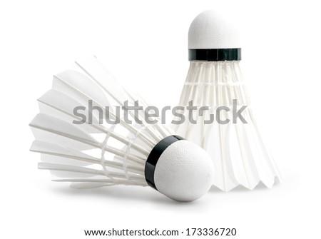 Badminton Shuttlecocks Isolated on a White Background - stock photo