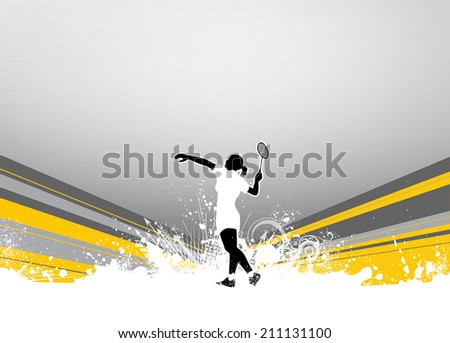 Badminton sport invitation poster or flyer background with empty space