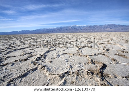 Badwater and Panamint Mountains view