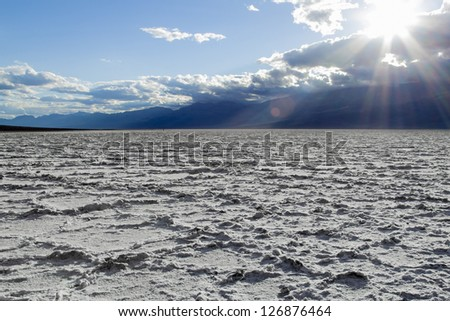 Badwater basin, Death Valley - stock photo