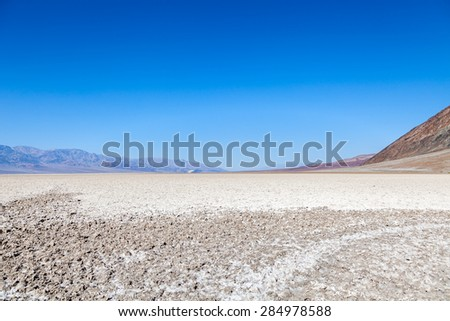 Badwater Basin, Death Valley National Park - stock photo