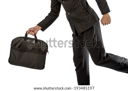 Bag business isolated on white with clipping path.