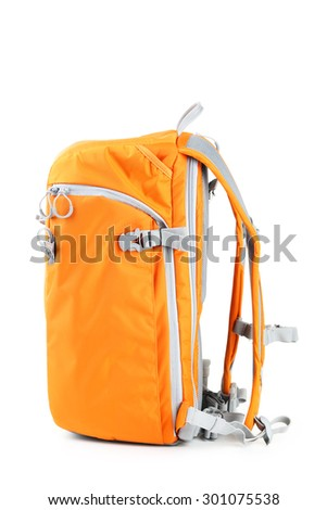 Bag camera isolated on a white - stock photo