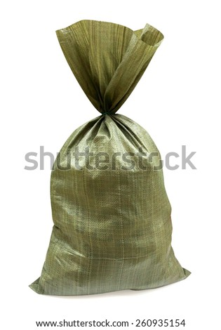 Bag for construction waste isolated - stock photo