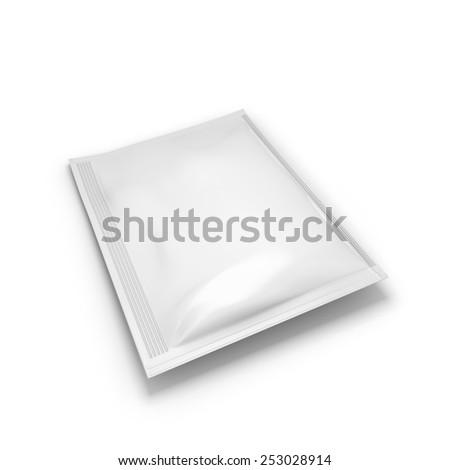Bag for seasoning isolated on white background. 3d illustration. - stock photo
