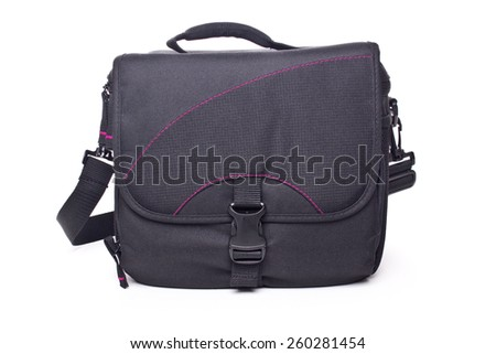 Bag for the camera, isolated on white - stock photo