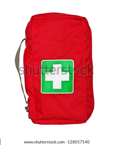 bag for the medicines, isolated on the white - stock photo