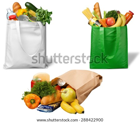 Bag, Groceries, Recycling. - stock photo