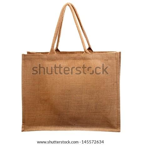 bag isolated on white - stock photo