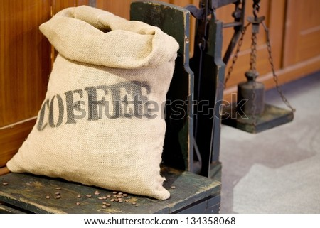 bag of coffee - stock photo