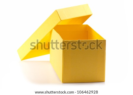 bag of gifts isolated on a white background. Studio photography - stock photo
