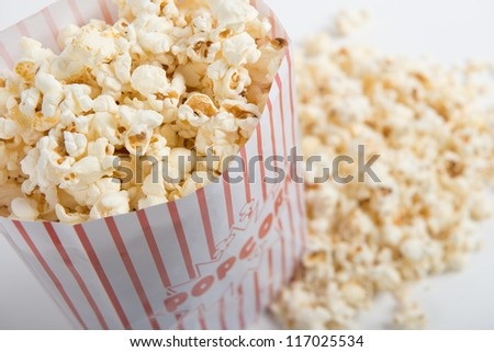 Bag of popcorn - stock photo
