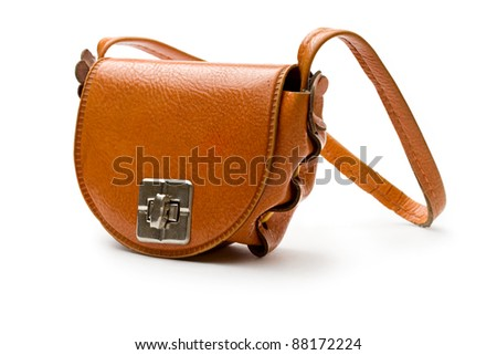 Bag on the white background - stock photo