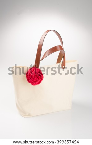 bag or fabric bag on a background - stock photo