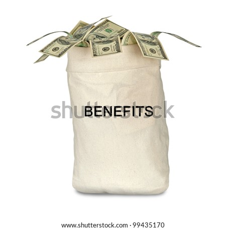 Bag with benefits - stock photo