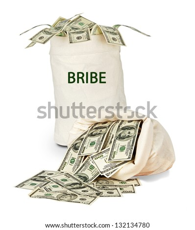 Bag with bribe
