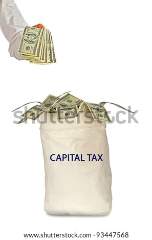Bag with capital tax