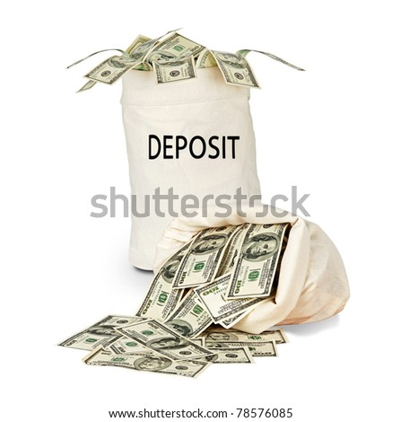 Bag with deposit