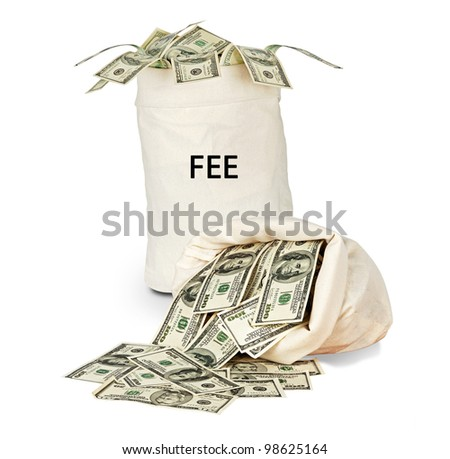 Bag with fee - stock photo