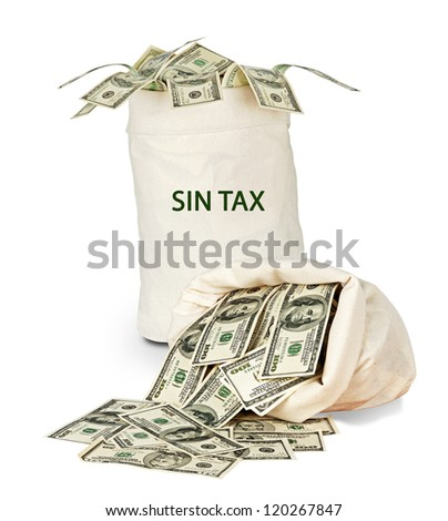 Bag with sin tax