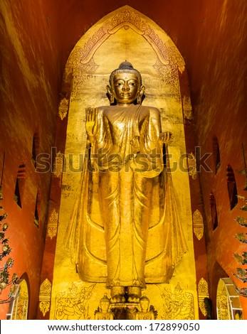 Esiste l'al di là? Stock-photo-bagan-myanmar-december-standing-buddha-statue-of-gotama-inside-of-ananda-temple-on-december-172899050