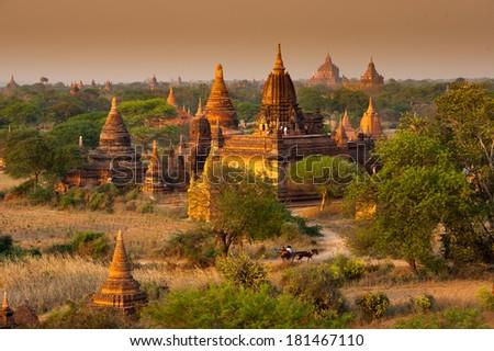 bagan pagoda - stock photo