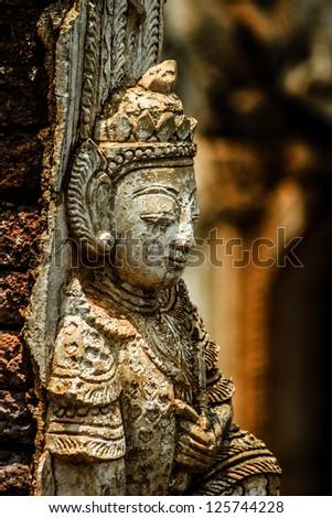 Bagan with his ancient pagoda's, Myanmar - stock photo