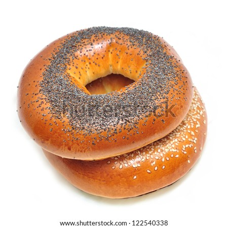 bagels with poppy seeds and sesame