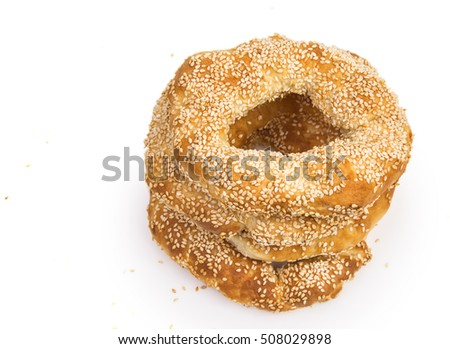 bagels with sesame seeds