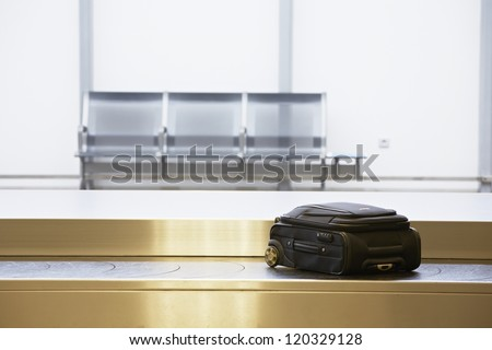 Baggage claim at the airport - stock photo