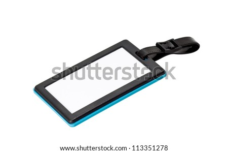 baggage tag isolated on white background - stock photo