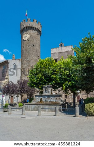 BAGNAIA (VITERBO), ITALY - A medieval town beside city of Viterbo, Lazio region, with the famous and touristic garden of Villa Lante