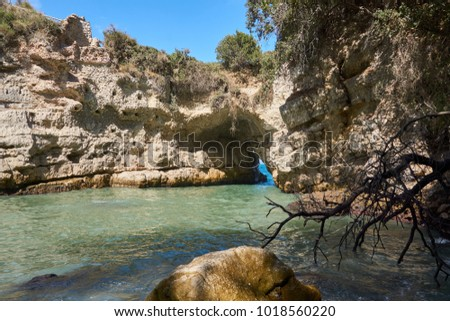 Bagni Della Regina Giovanna Baths Queen Stock Photo (Royalty Free ...