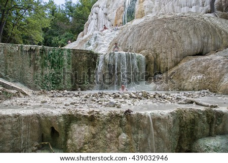 Bagni San Filippo ITALY August 20 Stock Photo (Download Now ...