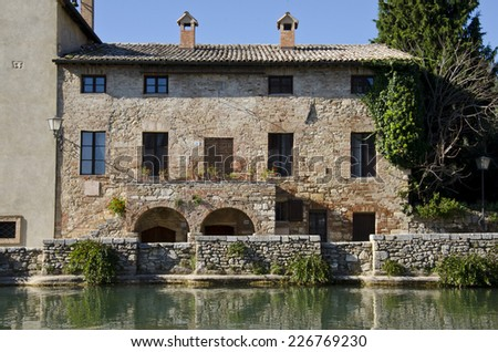 Bagno Vignoni (Tuscany, Italy)  - stock photo